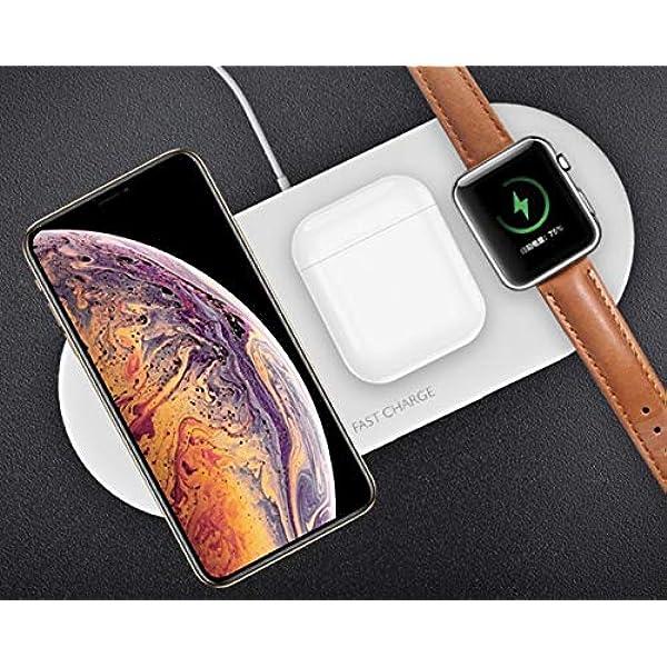 Ksix - Wireless Charler- Base Carga Inalámbrica 3 EN 1 Teléfono+ ...