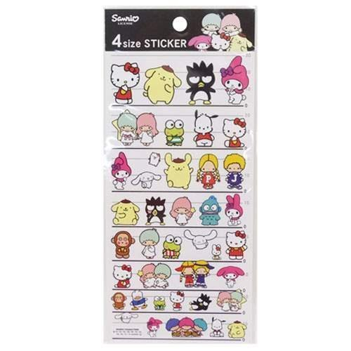 Hello Kitty Frog - Sanrio All Cheracters Stickers Hello Kitty 4 Sizes Stickers