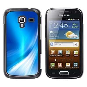 TopCaseStore / la caja del caucho duro de la cubierta de protección de la piel - Shiny Reflective White Pearlescent - Samsung Galaxy Ace 2 I8160 Ace II X S7560M