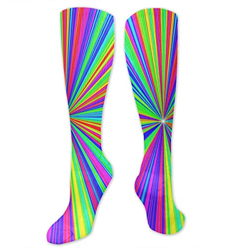 CGHVS Divergent Colored Stripes Compression Socks ¨C Medical Support - Party Supplies Divergent Birthday