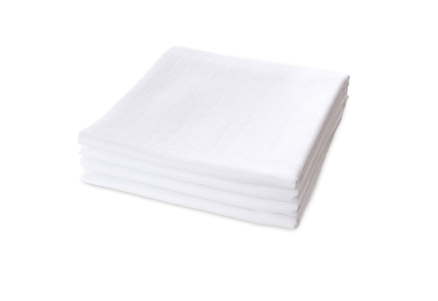 Muslins Squares White Washable up to 95/°C 60 x 80 cm Pack of 10 100/% Cotton by TARGARIAN