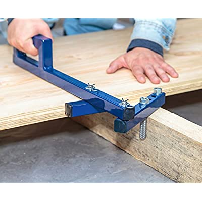 Floor Decking Tool Board Bender - Hardwood Bow Wrench Deck Board Straightener Flooring Jack Straightening Tool - Push & Pull - Extremely Adjustable Gripper Fits 2