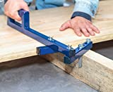 DrDeck Floor Decking Tool Board Bender - Bow Wrench Deck Board Straightener Hardwood Flooring Jack Straightening Tool - Push & Pull - Extremely Adjustable Gripper Fits 2'' 3'' 4'' 5'' Floor Joists - Blue