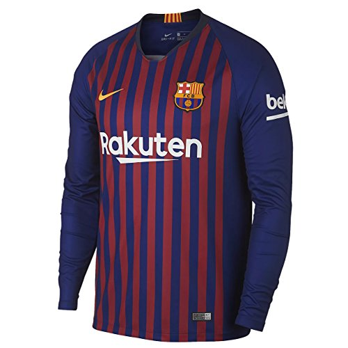 64f2d5c8b2f NIKE 2018-2019 Barcelona Home Long Sleeve Jersey (Deep Royal Blue) (L)