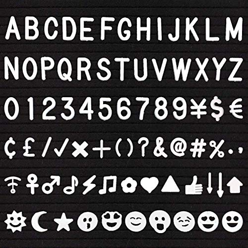 Letter Board Letters - 3/4 inch Pre-Cut White Plastic Characters - 510 Letters Numbers and Symbols - Great to Replenish or add to Your Letter Set