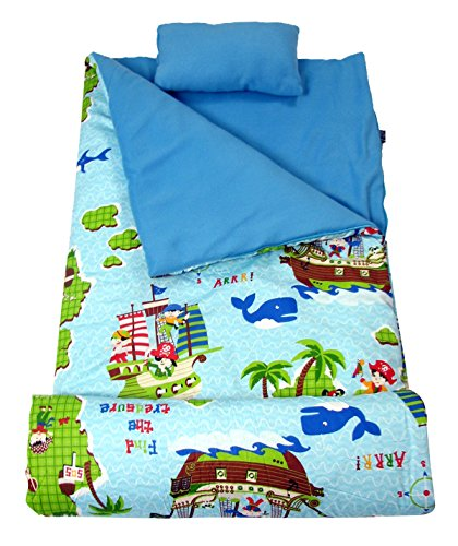 - SoHo Kids Jacks Pirates Children Sleeping Slumber Bag with Pillow and Carrying case Lightweight Foldable for Sleep Over