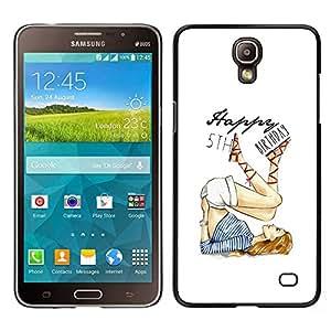 For Samsung Galaxy Mega 2 , S-type® 5'Th Birthday Girl White Fashion - Arte & diseño plástico duro Fundas Cover Cubre Hard Case Cover