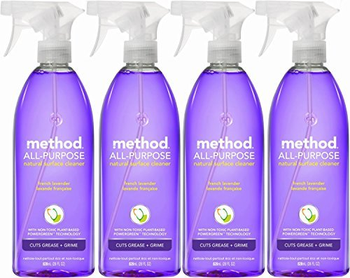 Method All Purpose Natural Surface Cleaning Spray - 28 oz - French Lavender - 4 pk by Method