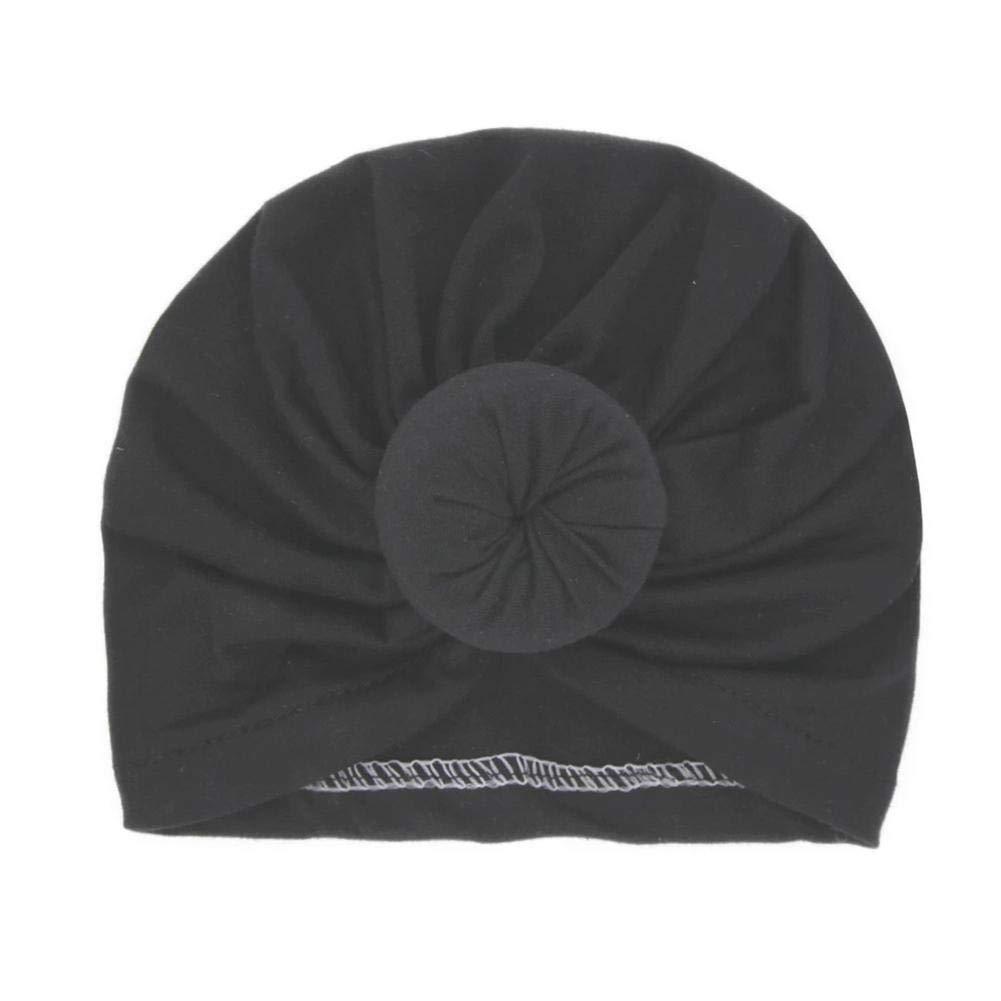 Hangarone Newborn Circle Turban Baby Turban Hat Baby Color s/ólido Bun Hat Bola Redonda para ni/ños sin l/ímites Newborn Circle Headband Baby Turban