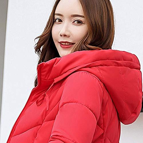 Plug M Invernale Ispessimento Cotone Size amp; Women Slim Coat Casual Winter Wososyeyo Giacca In Red Taglia dzwZxd
