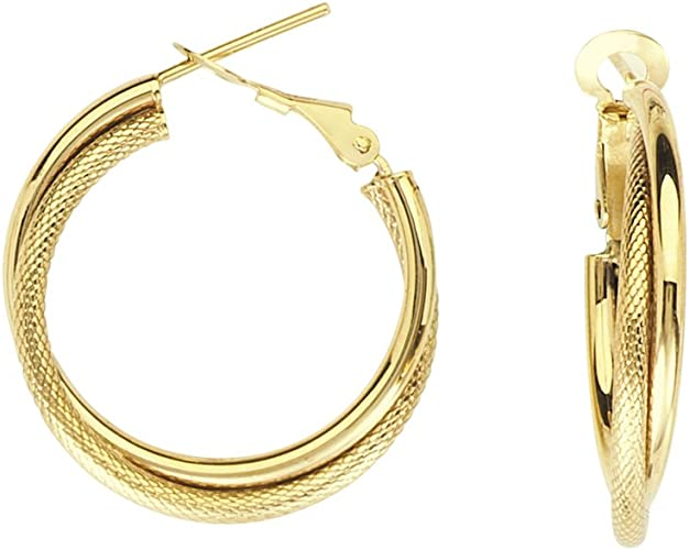 Hoop Earrings 14Kt Gold Hoop Earring