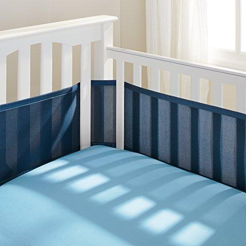 BreathableBaby Breathable Mesh Crib Liner, True Navy