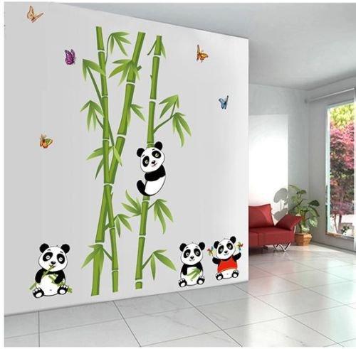 Yosemite Fruit (Cute Panda bamboo Removable Vinyl Wall Sticker Decal Home Decor)