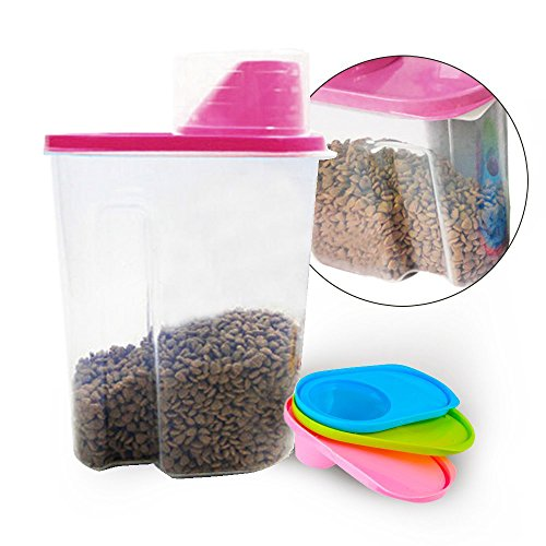 tiovery-pet-food-storge-container-dog-food-containers-dispenser-for-dogs-cats-birds-pink-