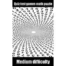 Quiz test games math puzzle difficult medium