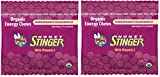 Honey Stinger Organic Energy Chews wddPBF, 2Pack (Pomegranate Passion Fruit)