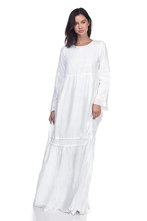 7373b63f3ec ModWhite Periwinkle White Temple Dress at Amazon Women s Clothing store