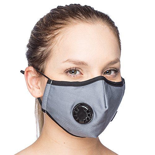 Debrief Me (1 Mask + 6 Filters Military Grade N99 Carbon Activated Anti Dust Face Mouth Cover Mask (N99 - Grey)