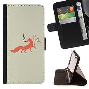 Momo Phone Case / Flip Funda de Cuero Case Cover - Fox Foxy fumadores Arte Red Tail Bosque Animal - Sony Xperia M2