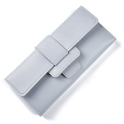 Long Sac Multi Titulaire Carte Femme Gray Wallet de Main Blue Purse Deux la Lovely Zipper à rabbit Color Fold Hasp REw64xqv