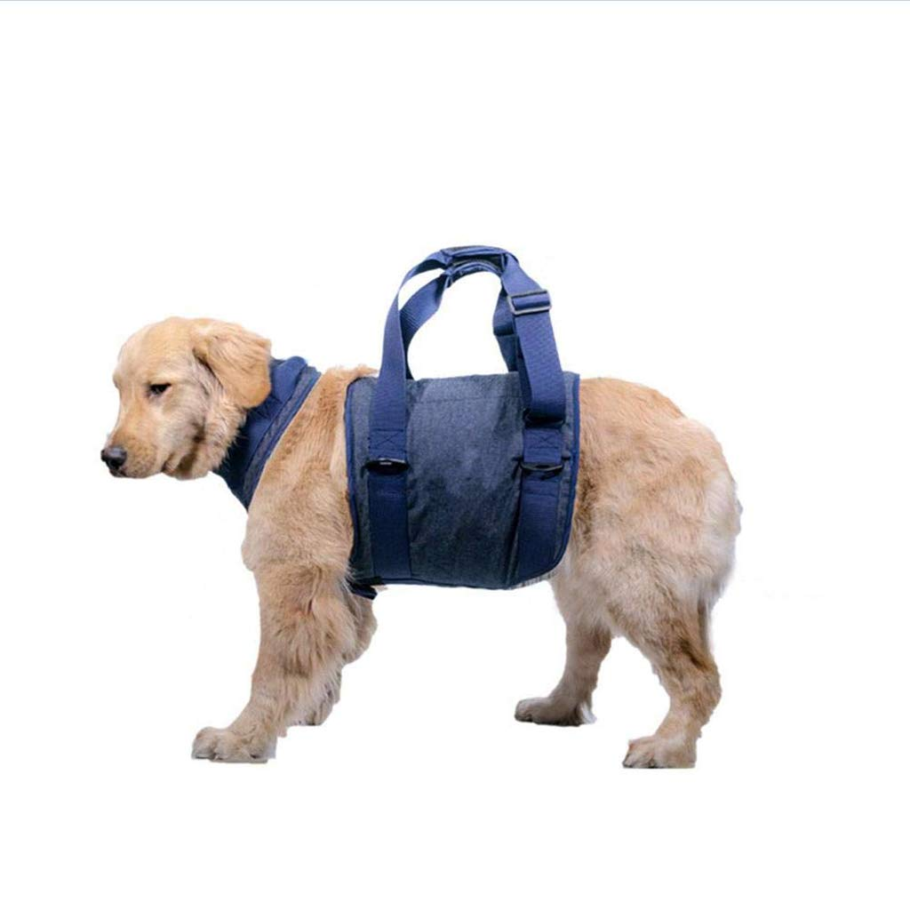 Pet Walking Aid Lifting Pulling Vest Sling, Portable Dog Support Harness Lift Lifting Rehabilitation Assist Sling with Handle Young Puppies Older Canines to Climb Stairs, Get into Car, Help Walk ,L