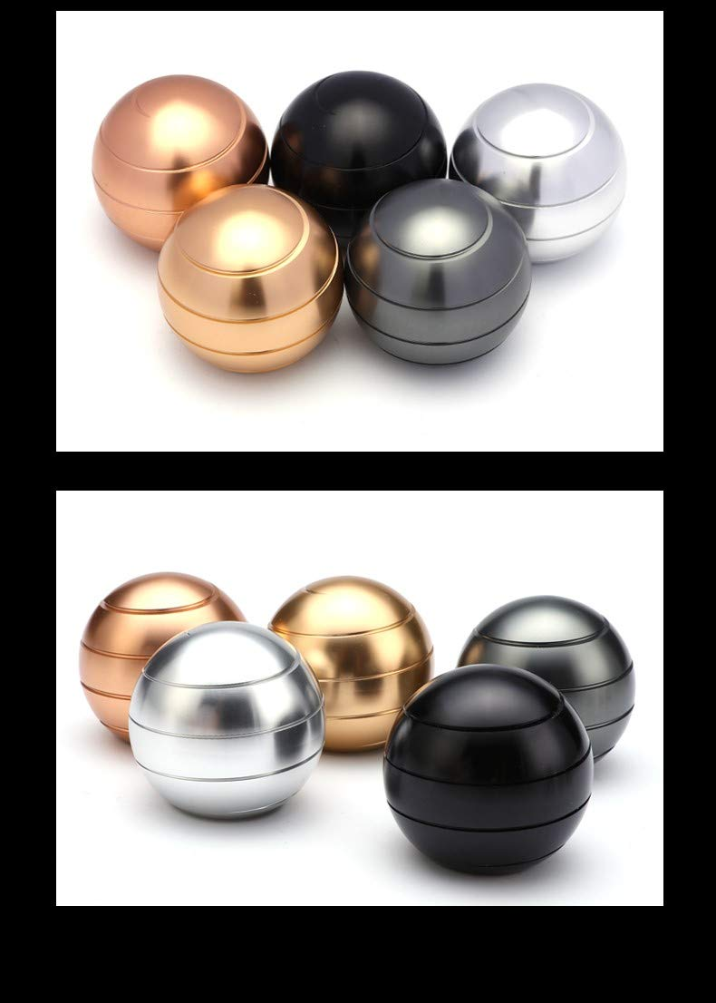 Dia-38mm, Black Fantes Kinetic Spinning Desk Toy Anxiety Relief Stress ADHD Anxiety Reliever
