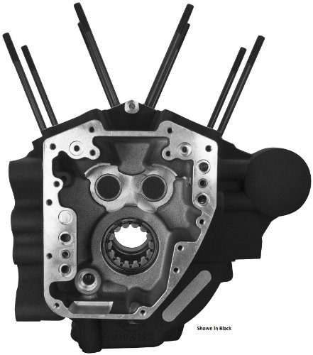 S&S Cycle Super Stock T2 Wrinkle Black Engine Case w/ 4-1/8