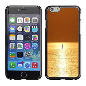 FECELL CITY // Duro Aluminio Pegatina PC Caso decorativo Funda Carcasa de Protección para Apple Iphone 6 Plus 5.5 // Sea Sailing Boat Sailboat Summer