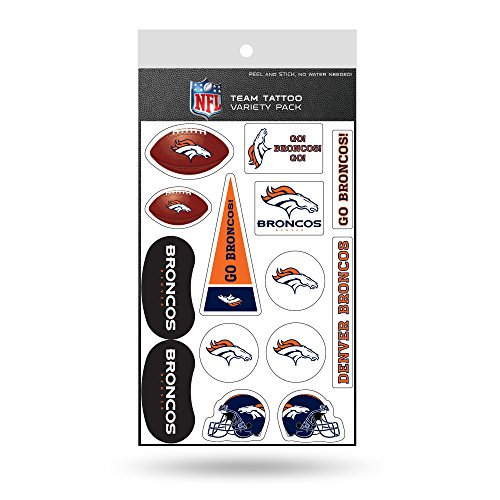 NFL Denver Broncos Tattoo Variety Pack