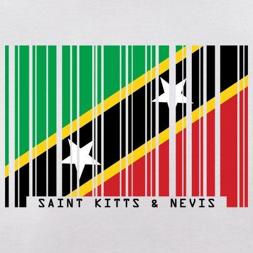 Saint Kitts and Nevis / St. Kitts und Nevis Barcode Flagge - Herren T-Shirt - Weiß - L