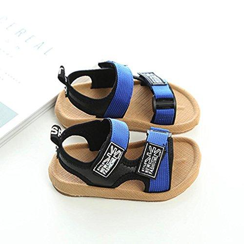 Fheaven Bébé Garçons Sandales Sneaker Enfant En Bas Âge Été Décontracté Plage Anti-dérapant Chaussures Bleues
