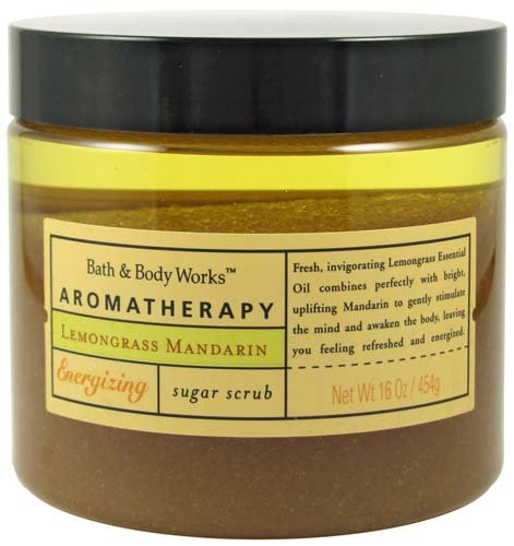 Bath & Body Works Aromatherapy Lemongrass Mandarin Energizing Sugar Scrub 16 oz (454 g) -