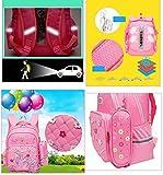 Moonwind Cute Princess Kids School Backpacks for Girls Book Bags and Pencil Case (Flower Style, Flower-Light Pink)