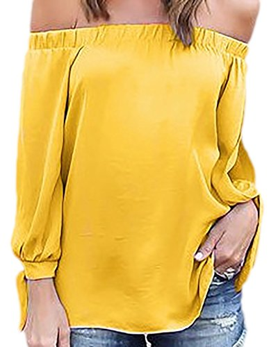 Zauberkirschen - Camisas - Básico - Opaco - para mujer amarillo