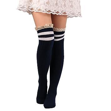 Yosemite mujeres calcetines por encima de la rodilla muslo alta elástico largo calcetines niñas Medias de