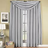 Elegance Solid Rod Pocket Window Treatment- Panels, Valances and Scarves. Available in various colors and sizes to enhance your home décor. 42X108 IN Each Panel, Silver