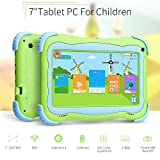Yuntab Kids Tablet Q91 7 Inch Allwinner A33,1.5 Ghz Quad Core Google Android 5.1,Tablet PC,1G+8G,Dual Camera,WiFi,Bluetooth,G-Sensor,Support SD/MMC/TF Card,Parental Control Software (Green)