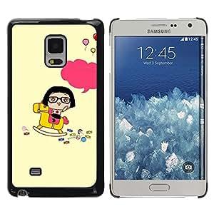 Be Good Phone Accessory // Dura Cáscara cubierta Protectora Caso Carcasa Funda de Protección para Samsung Galaxy Mega 5.8 9150 9152 // Cute Happy Rocking Horse