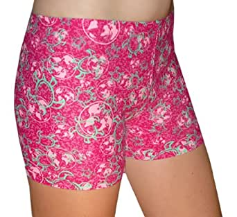 "Spandex Shorts , 4"" Inseam, Global Tuga Pink, Large"