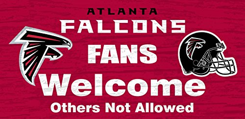Atlanta Falcons Wood Sign - Fans Welcome 12
