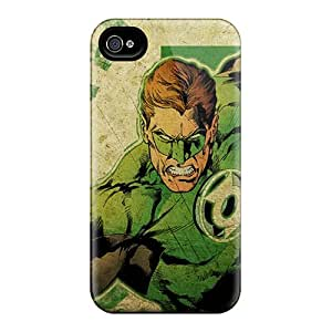 Scratch Resistant Cell-phone Hard Covers For Iphone 4/4s (nmb11638gWnX) Allow Personal Design Stylish Green Lantern Pattern