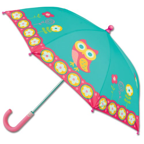 Stephen Joseph Little Girls' Umbrella, Teal Owl