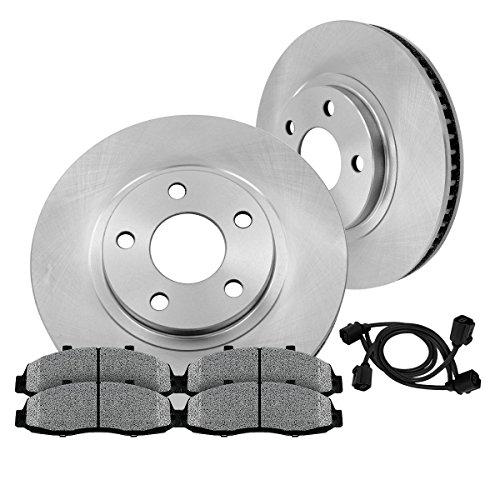 [ E36 E46 ] FRONT 286 mm Premium OE 5 Lug [2] Brake Disc Rotors + [4] Metallic Brake Pads + Sensors CRK12582