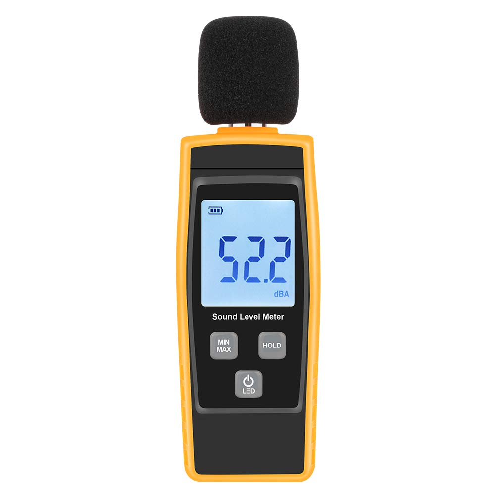 Hand-Held Sound Level Meter,V-Resourcing 30~130 dB Decibel Noise Measurement Tester with Backlight Digital LCD Display for Indoor/Outdoor Uses [Max/Min/Hold Function] by V·RESOURCING