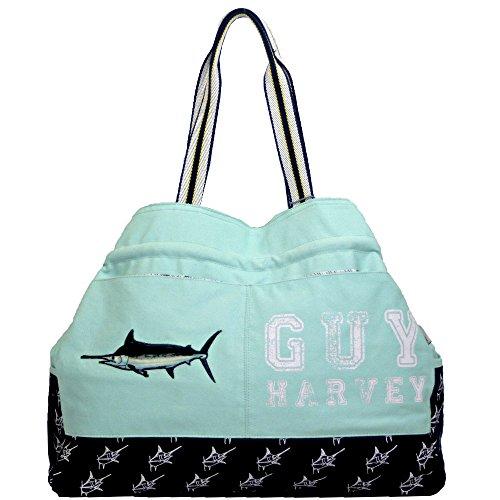 Guy Harvey Blue Marlin Large Gap Beach Bags (Aqua)