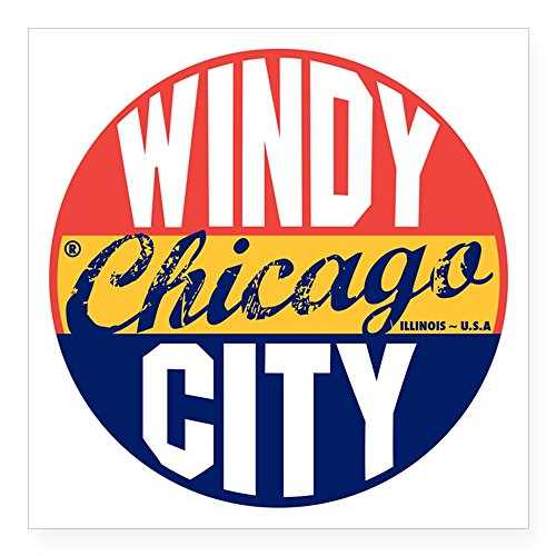 CafePress - Chicago Vintage Label B Square Sticker 3