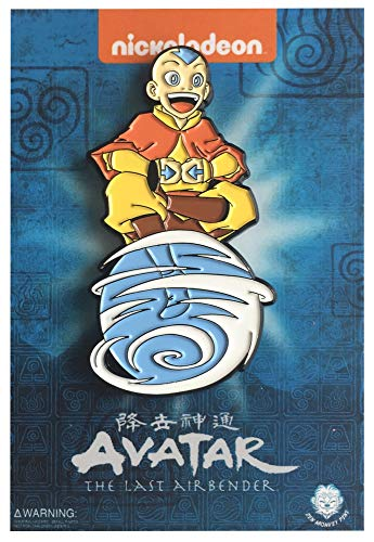 """Aang On Air Scooter - 1.75"""" The Last Airbender Collectible Pin"""