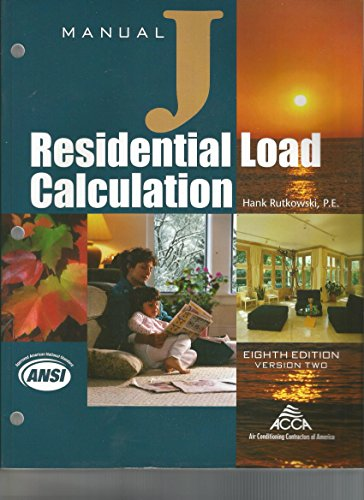 Manual J Residential Load Calculation, 8th Edition