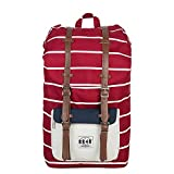 8848 Unisex's Travel Hiking Backpack Waterproof Material Red Stripe