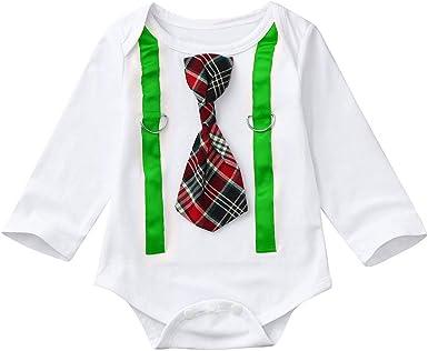 MAYOGO Bebé Niño Mameluco Camiseta Manga Larga Mono Peleles ...
